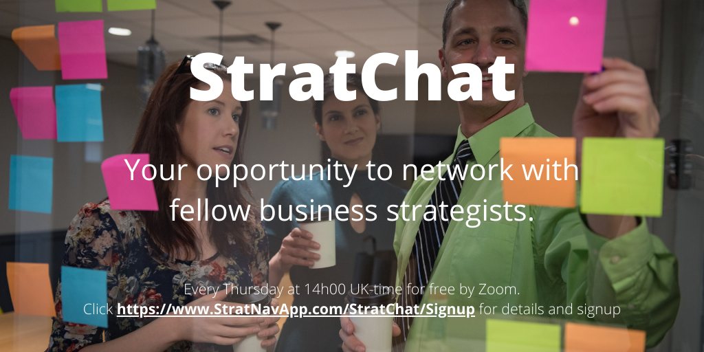 Advertising image for StratChat